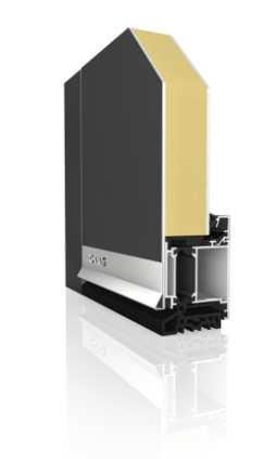 Haustürprofil AT70 E DB 703 Aluminium - Aufsatzfüllung