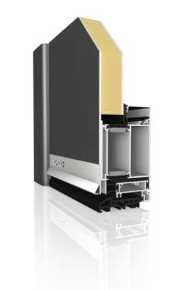 Haustürprofil AT85 SL DB 703 Aluminium - Aufsatzfüllung