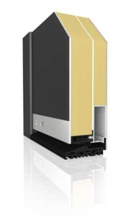 Haustürprofil AT90 Vision DB 703 Aluminium - Aufsatzfüllung